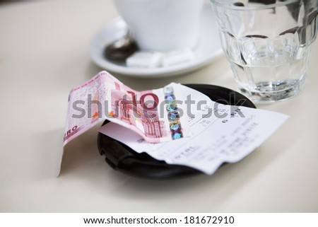 Coffee Shop, Outdoor Tables - stock photo