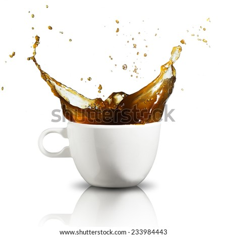 Coffee splash from coffee cup