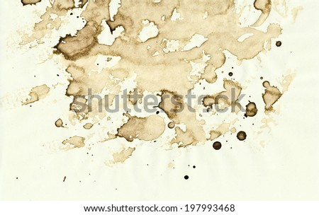 coffee spots on paper texture or background