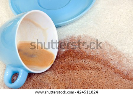Coffee stain - stock photo