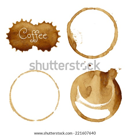 Coffee Stain Collection - stock photo