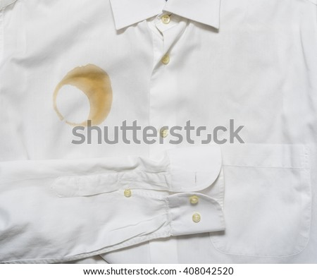 coffee stain on a shirt - stock photo