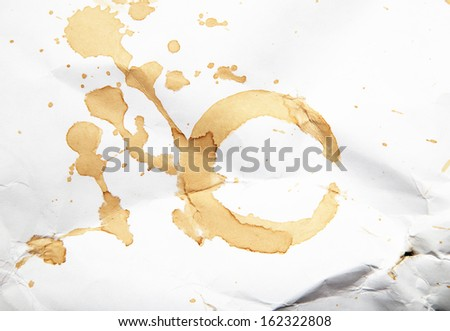 coffee stain on paper - stock photo