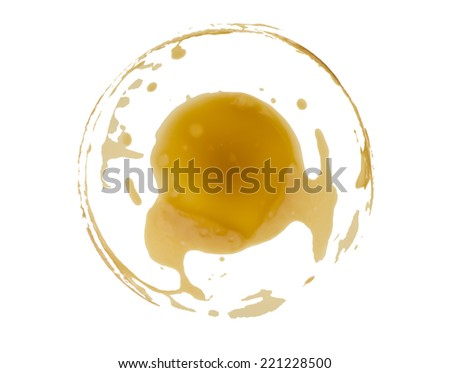 coffee stain on white background - stock photo
