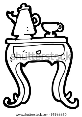 coffee table clipart black and white. coffee table cartoon clipart black and white e