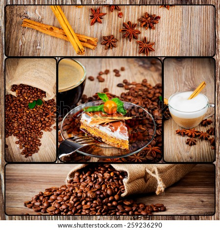 Coffee theme set - stock photo
