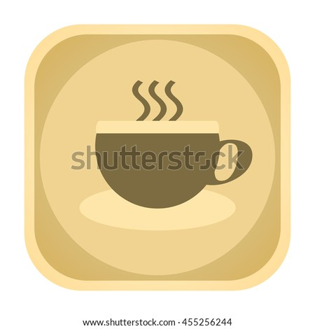Coffee vintage icon - stock photo