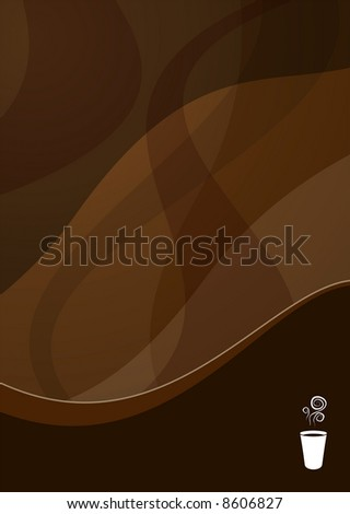 coffee wave background ideal for menus - portrait version - stock photo
