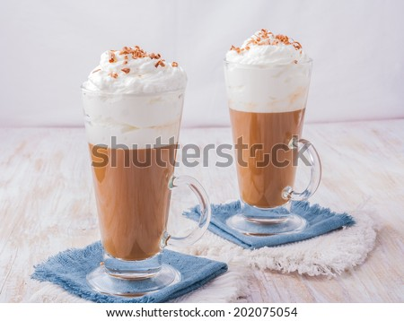 coffee whipped cream - stock photo