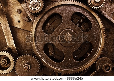 Cog and wheel details from machines