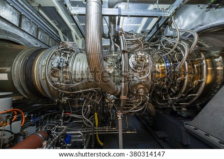 Cogeneration plant gas turbine engine