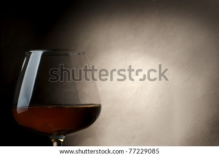 Cognac glass - stock photo