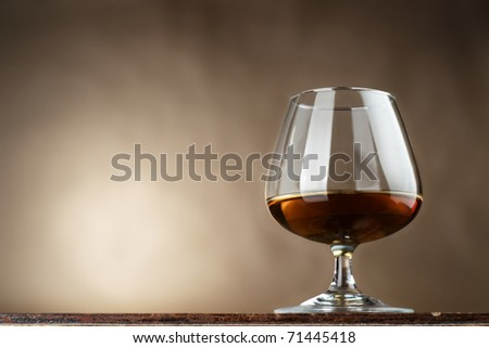 Cognac in a glass - stock photo
