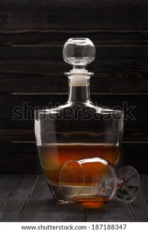 Cognac in a vintage setting