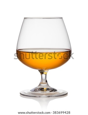 cognac on a white background - stock photo