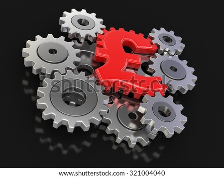 Cogwheel pound (clipping path included) - stock photo