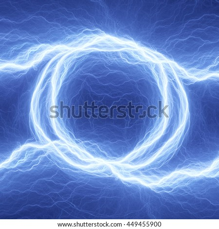 Coil lightning,blue electrical abstract - stock photo