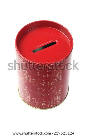 Coin Bank On White Background - stock photo