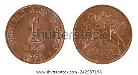 Coin 1 Cent Tobacco - stock photo