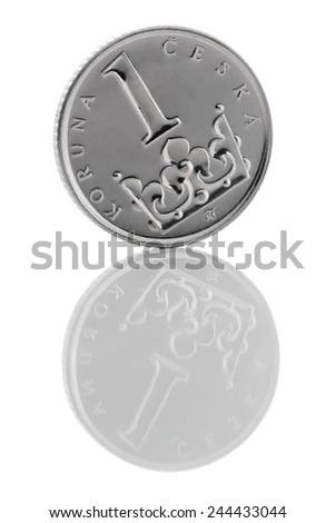 Coin Czech Republic (Czech crown). - stock photo