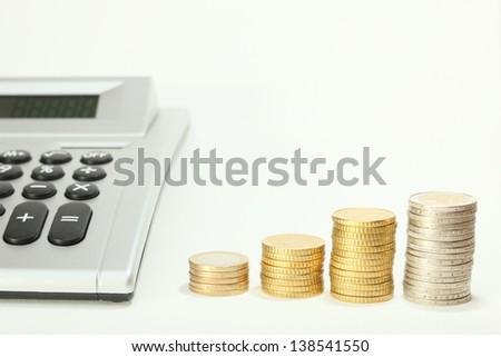 coin growth calculator - stock photo