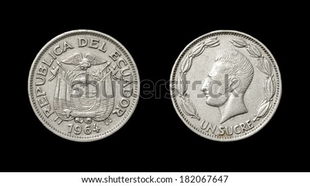 Coin of Ecuador - obverse and reverse