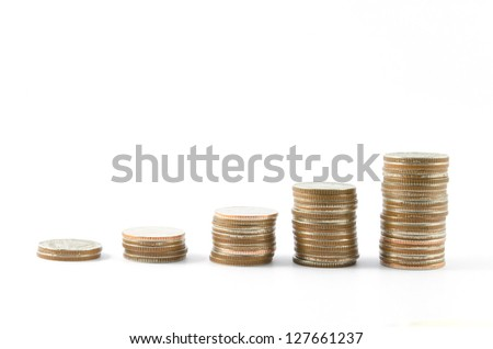 Coin on white backgrounds.