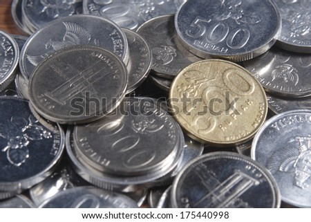 coin rupiah  - stock photo