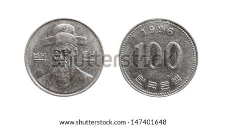 south korea 100 coin value in india