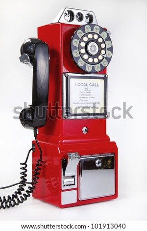 coin telephone - stock photo