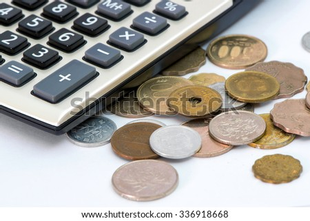 coin with calculator