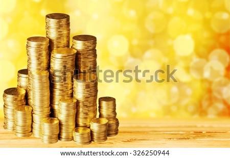 Coins. - stock photo