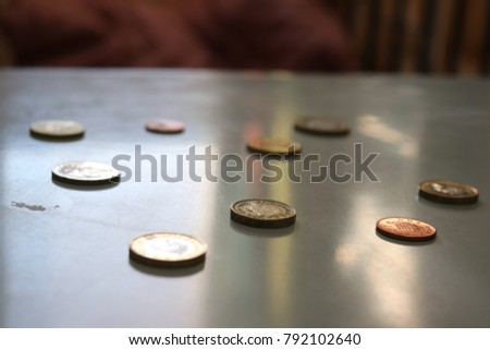 coins and loose change