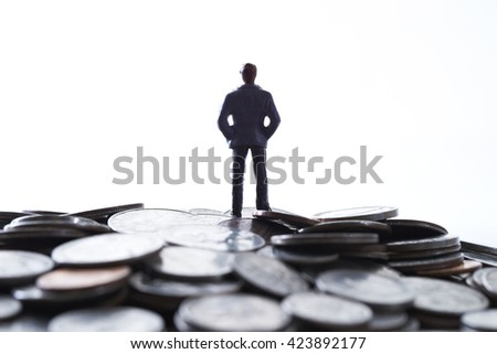 Coins and miniature men
