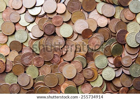 Coins background cents  - stock photo