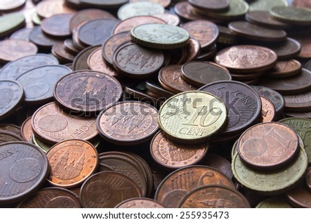 Coins background cents