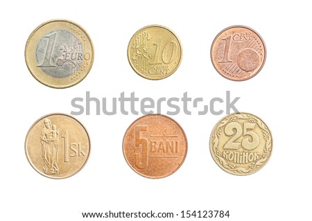 Coins Collection, Set - stock photo