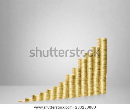 Coins graph stock market  - stock photo