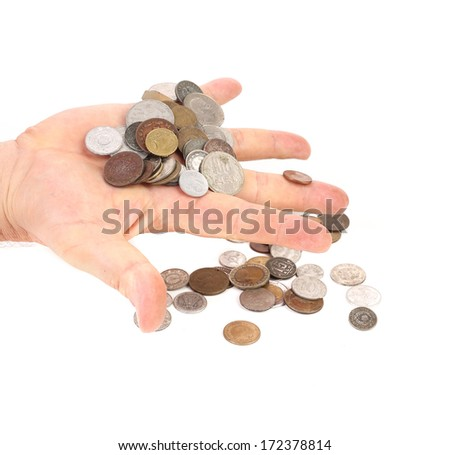 coins in hande