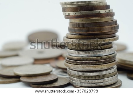 coins stack - stock photo