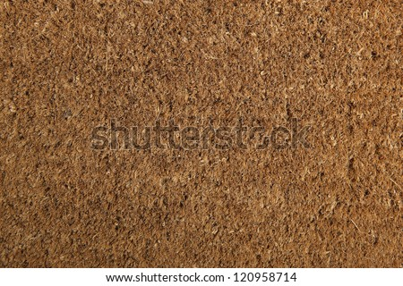 Coir natural fiber doormat, suitable for use as background or texture. Brand new and clean. - stock photo