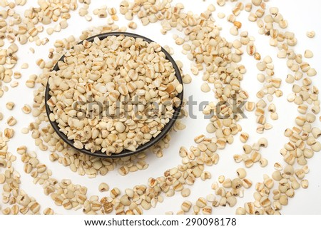 Coixseed or Jobs tears grains for health  - stock photo