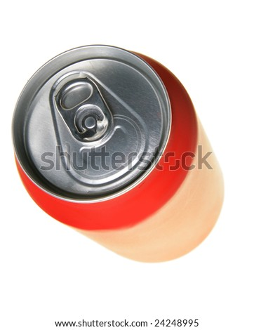 Cola can isolated over a white background - stock photo