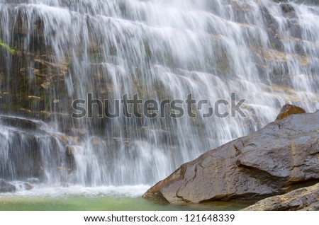 Cola de Caballo waterfall in Ordesa National Park, Pyrenees, Huesca, Aragon, Spain