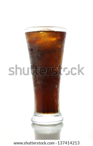 Cola drink on a white background