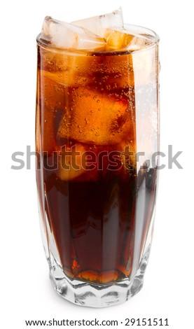 cola glass - stock photo