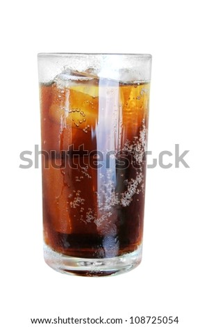 cola glass isolated - stock photo