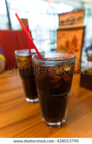 cola in cup