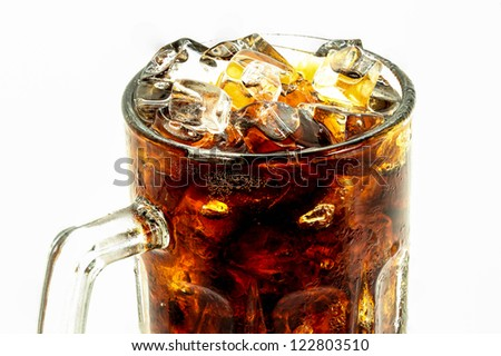 Cola in highball glass