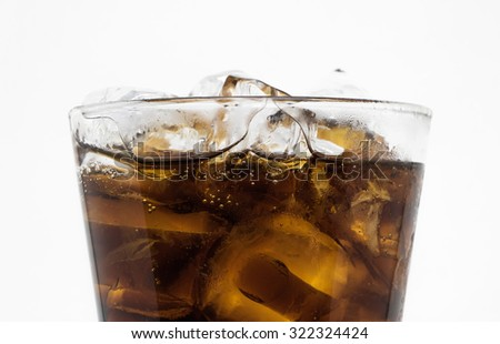 Cola soft drink white isolate Background